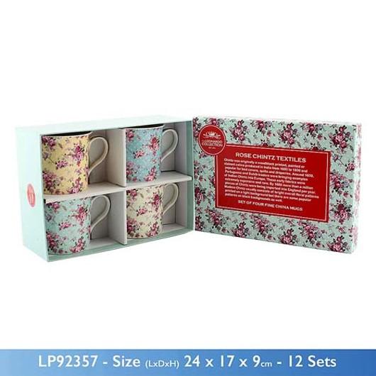 Ditsy Rose 4 Mug Gift Set Lp92357