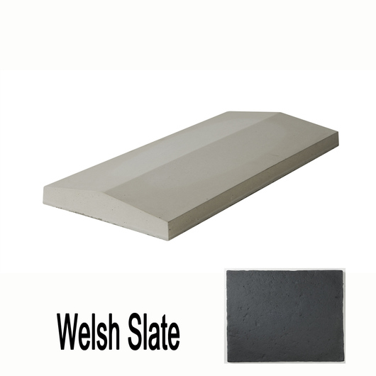 Double Saddle Coping Slate 600 x 280mm T/W Ref 0273W
