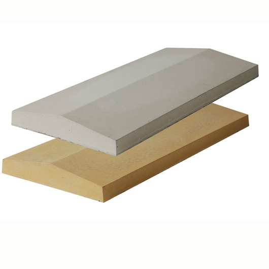 Double Saddle Coping White 600 x 280mm T/W Ref 0273