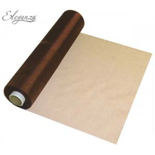 Eleganza Soft Sheer Organza 29cm x 25m Chocolate 221756