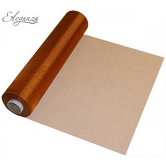 Eleganza Soft Sheer Organza 29cm x 25m Copper 221633