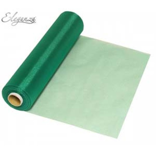 Eleganza Soft Sheer Organza 29cm x 25m Emerald Green 221992