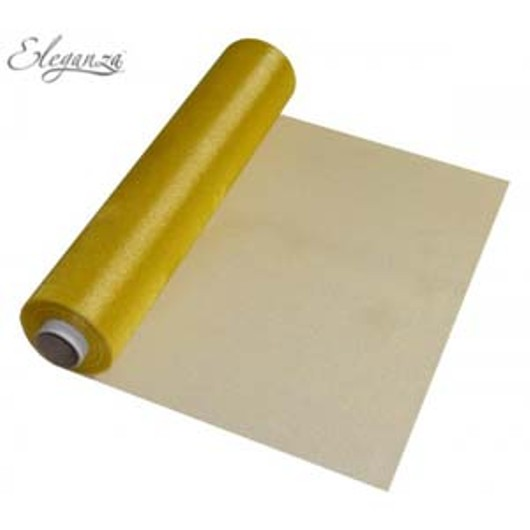 Eleganza Soft Sheer Organza 29cm x 25m Gold 221626