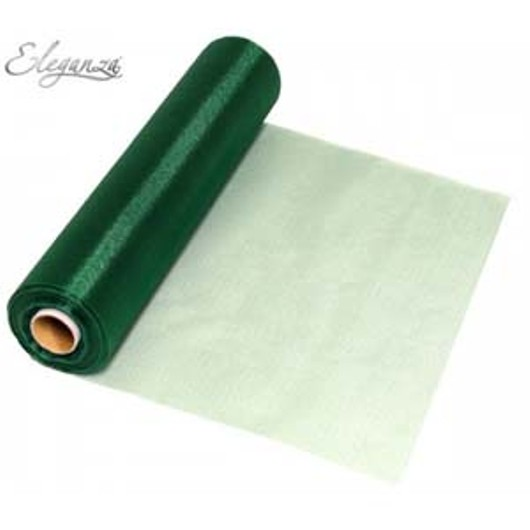 Eleganza Soft Sheer Organza 29cm x 25m Green 221961