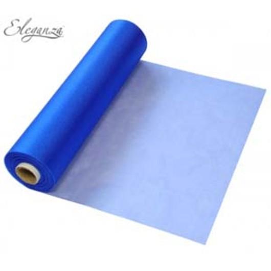 Eleganza Soft Sheer Organza 29cm x 25m Royal Blue 221794