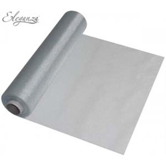Eleganza Soft Sheer Organza 29cm x 25m Silver 221763