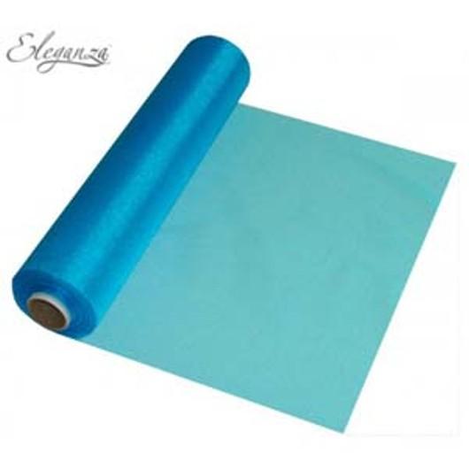 Eleganza Soft Sheer Organza 29cm x 25m Turquoise 221718