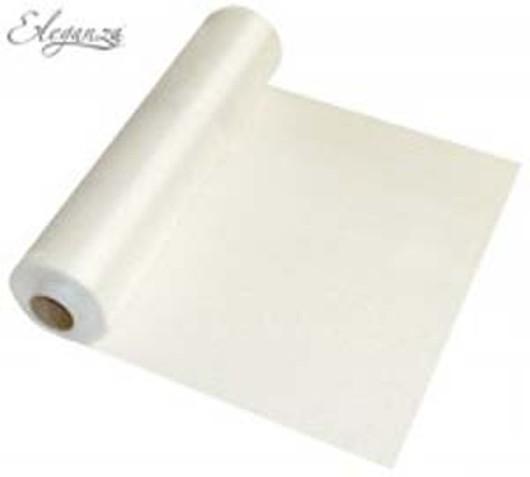 Eleganza Soft Sheer Organza 29cm x 25m White 221602