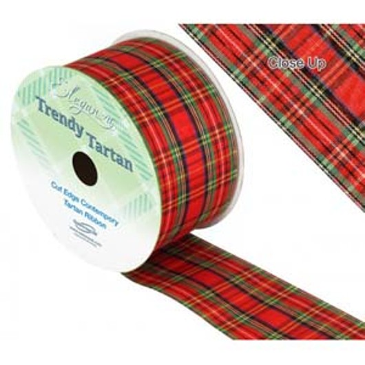 Eleganza Tartan Ribbon 50mm x 20m 457865