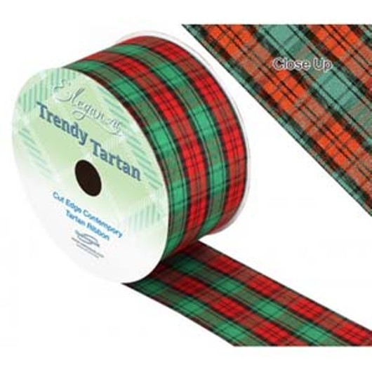 Eleganza Tartan Ribbon 50mm x 20m 457872