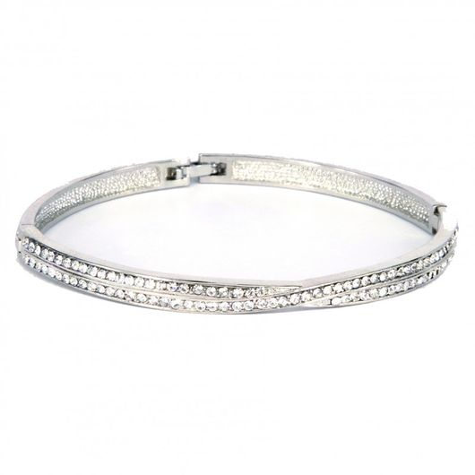 Entwined Crystal Weave Bangle 1861