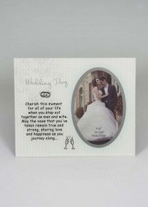 Fischhoff Wedding Day Glass Photo Frame DF17006-B