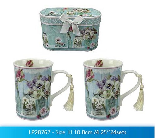 Flower Garden Box 2 Mugs Lp28767