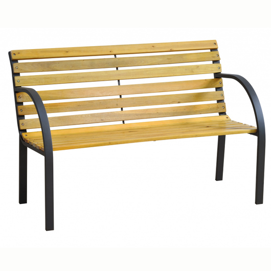 Garden Wood Slat Bench KD