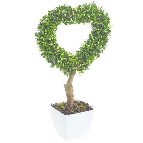 Gardman Pre-Lit Potted Heart Topiary 52Cm 02867