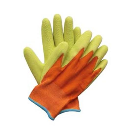 Kids Junior Digger Gloves Orange & Green Ref: 358854