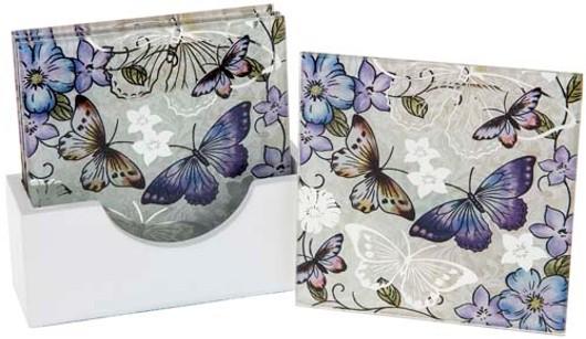 Lavender Butterfly Coaster Set 55137