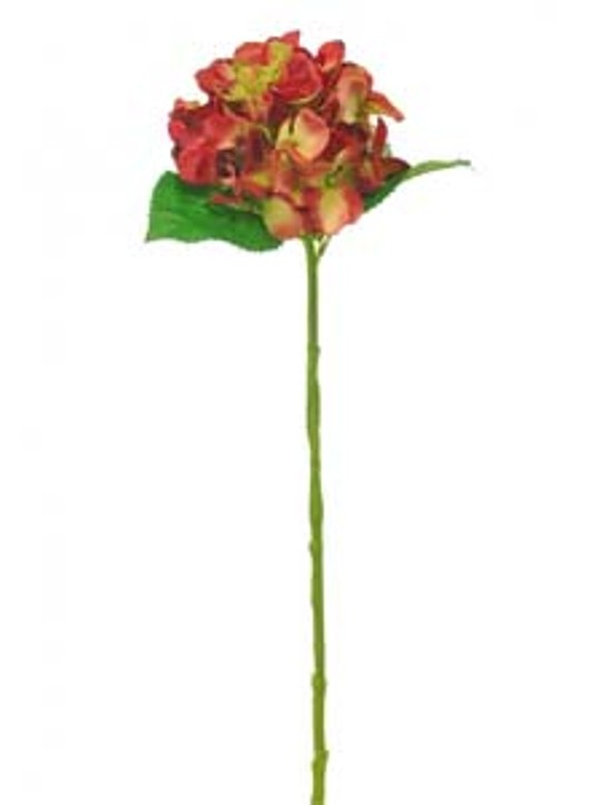 Silk Single Annabelle Hydrangea Autumn Red Ref 194360