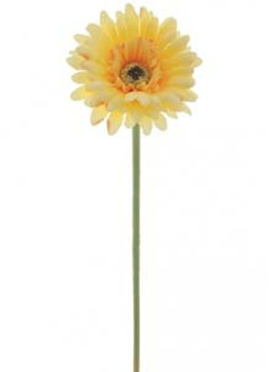 Silk Small Head Gerbera Yellow Ref 105221