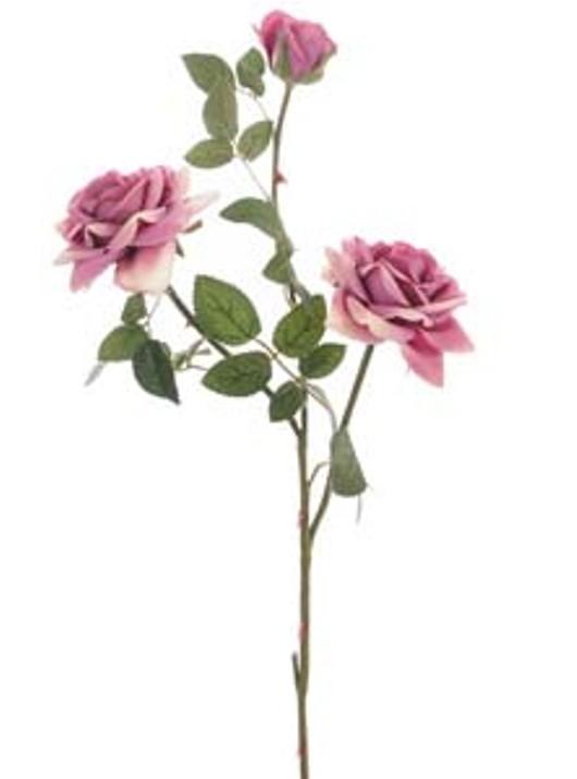 Supreme Silk Med Open Rose Spray Blush Pink Ref 177230