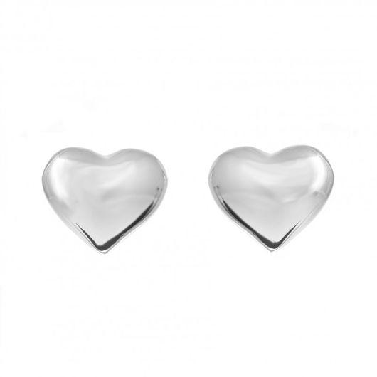 Matt Heart Earrings 1827