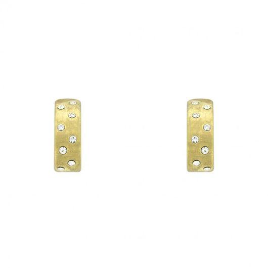 Modern Matt Gold Stone Set Earrings E/Ring1496