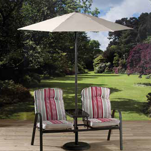 Napoli Companion Set with Cushions & Parasol