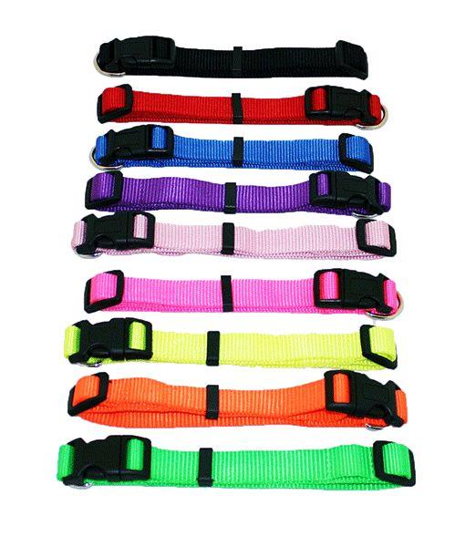 Nylon Adjustable Collar 3-4 X 14-18 Asst Colours 0190