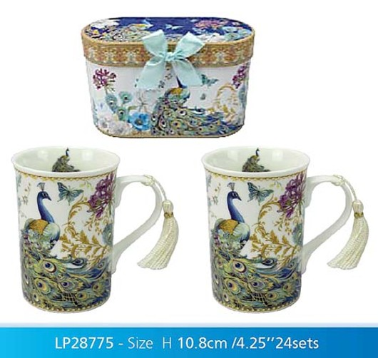 Peacock Box 2 Mugs Lp28775