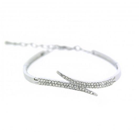 Rhodium & Crystal Bracelet 1488
