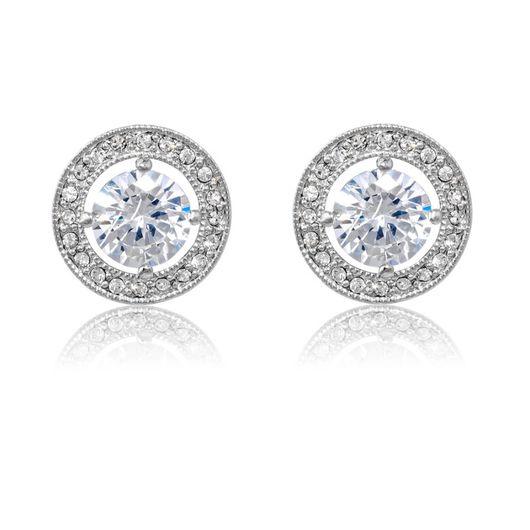 Rhodium Crystal Earrings E/Ring7023