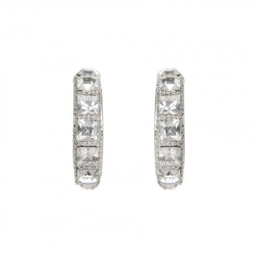 Rhodium Plated Hoop Earrings 1889
