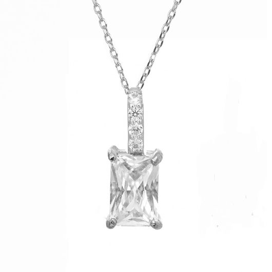 Rhodium Plated Pendant 1897