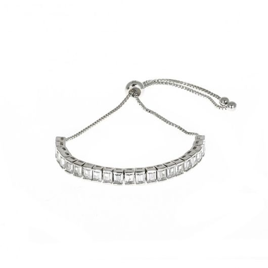 Rhodium Plated Toggle Bracelet 1884