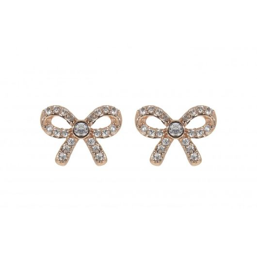 Rose Gold Crystal Bow Earrings 1859