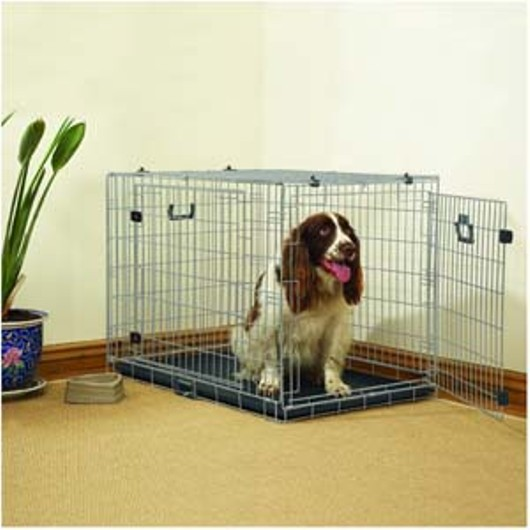 Rosewood Large Dog Cage 2) 02081