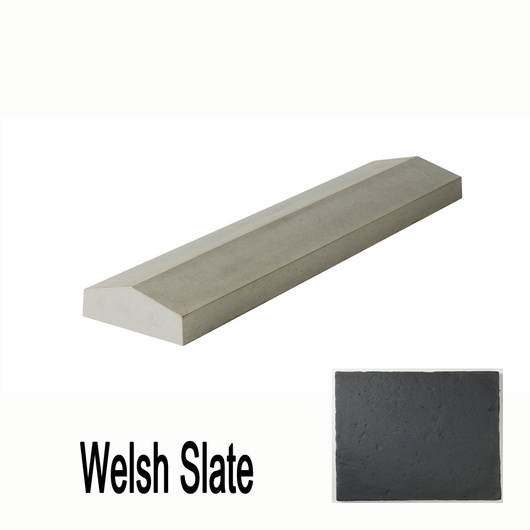 Single Saddle Coping Slate 600 x 140mm T/W Ref 0271W