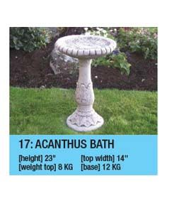 Stone Acanthus Bird Bath
