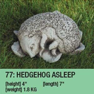 Stone Hedgehog Asleep Garden Ornament