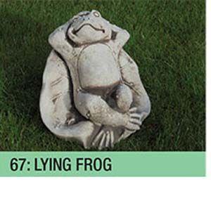 Stone Lying Frog Garden Ornament