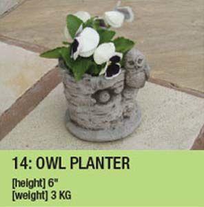 Stone Owl Planter