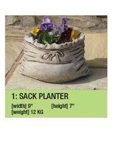 Stone Sack Planter Garden Ornament