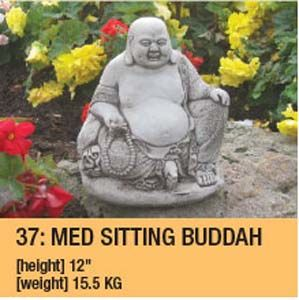 Stone Small Sitting Buddah Garden Ornament