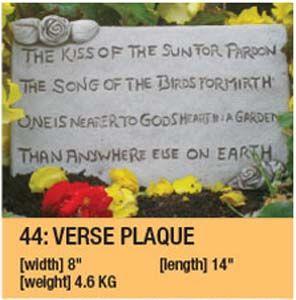 Stone Verse Plaque Garden Ornament