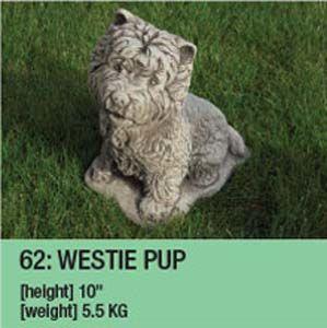 Stone Westie Pup Garden Ornament