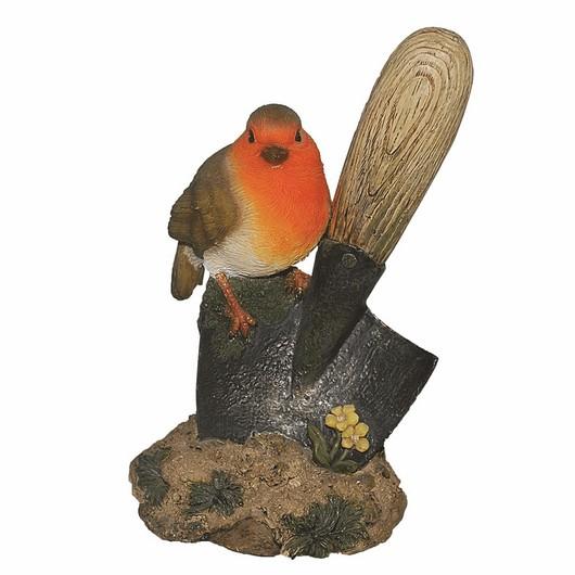 Vivid Arts Bird On Garden Tool Mix - Bg-Trow-F