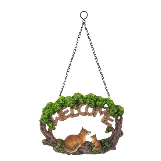 Vivid Arts Hanging Fox Welcome Sign Hgf-050