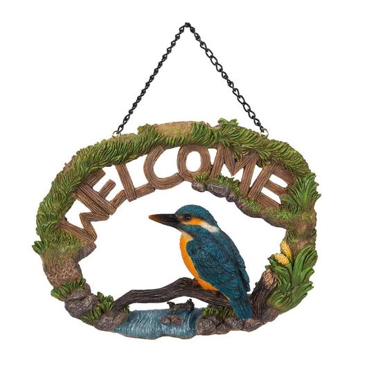 Vivid Arts Hanging Kingfisher Welcome Sign Hgf-051
