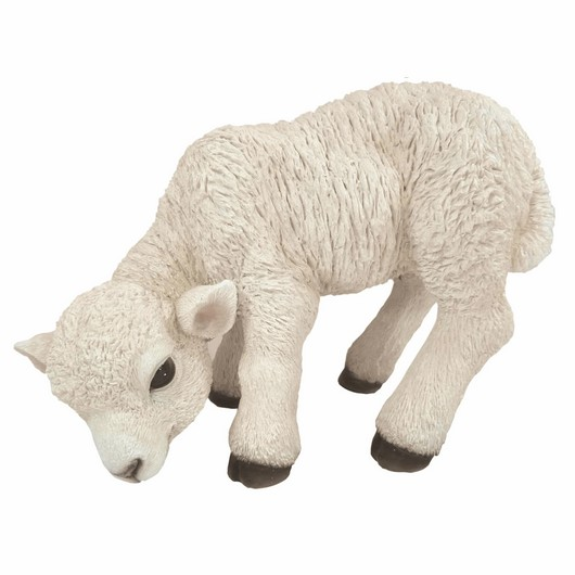 Vivid Arts Resin White Standing Lamb Small - Xrl-Lamb-D