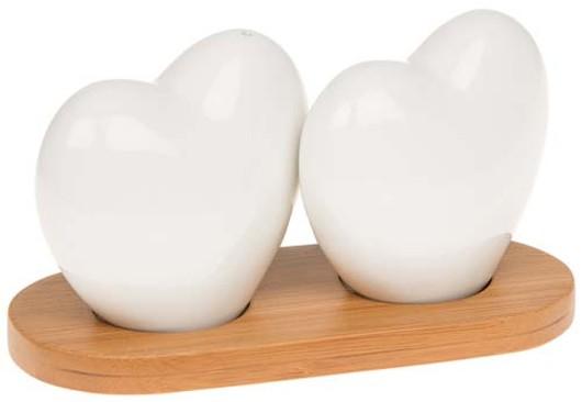 White Bamboo Heart Cruet 66212